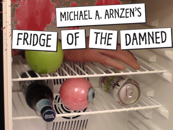 Michael A. Arnzen's Fridge of the Damned magnetic word kit!