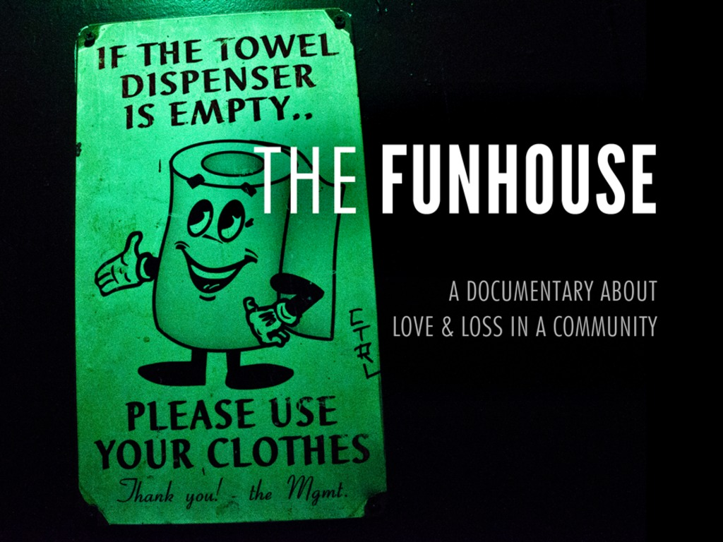 Let's finish a documentary about The Funhouse's video poster