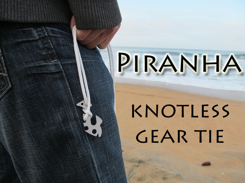 Piranha - Knotless Gear Tie. Fish Bone 2.0's video poster