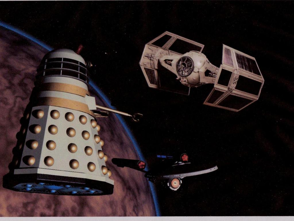 Dalek v Enterprise v Vader (the race to the edge of space)'s video poster