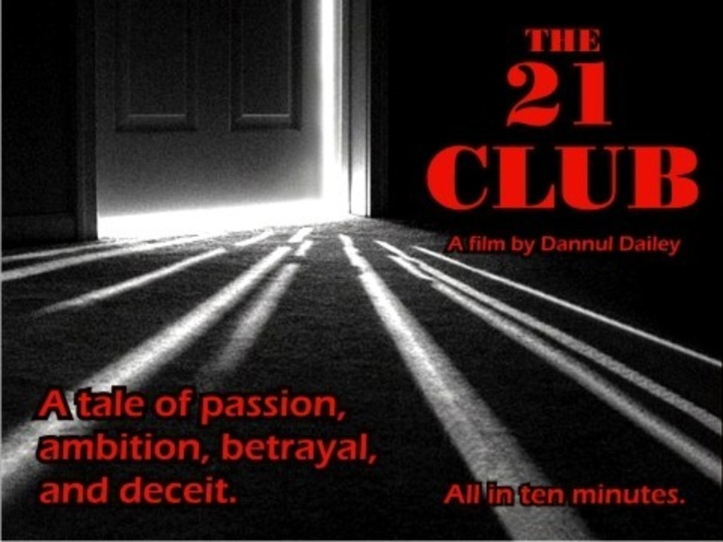 The 21 Club. A short independent film's video poster
