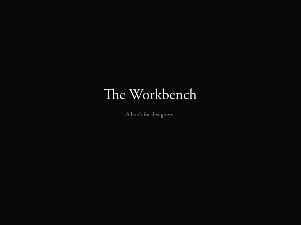 The Workbench's video poster
