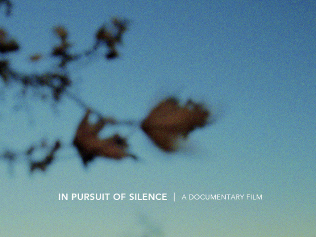 IN PURSUIT OF SILENCE - A Documentary Film's video poster