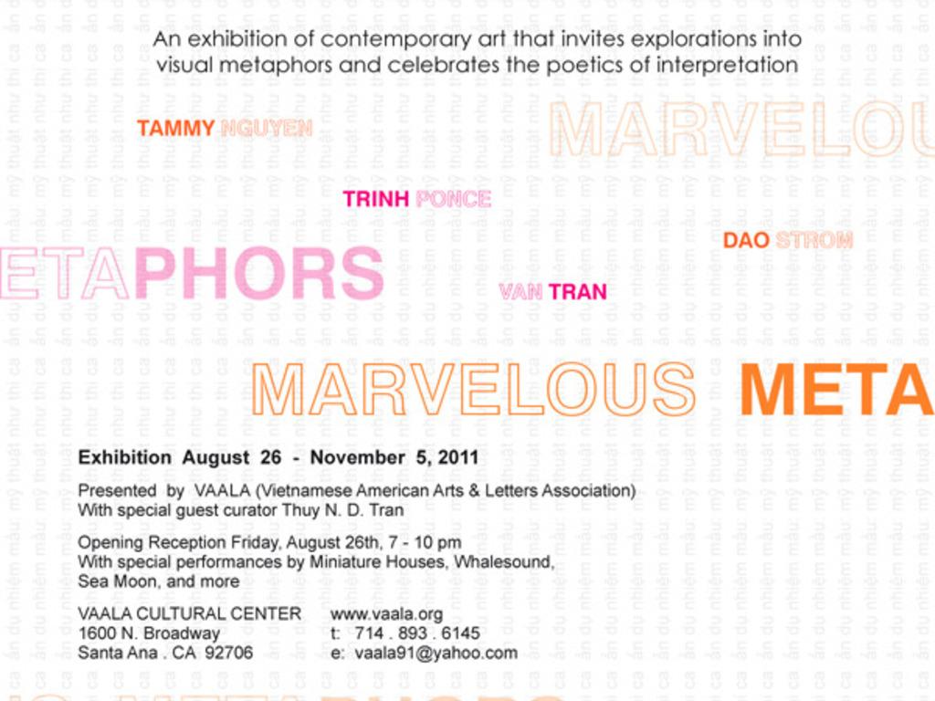 VAALA Cultural Center & Marvelous Metaphors Exhibition's video poster