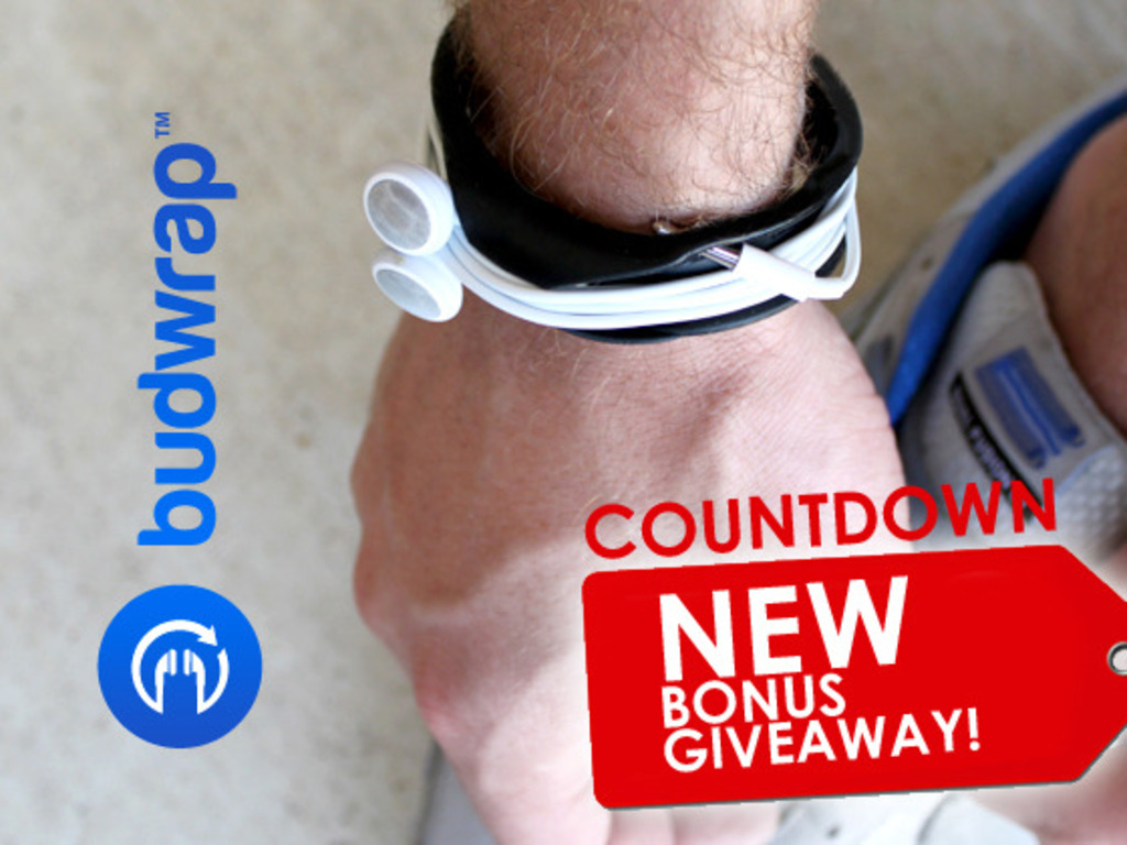 Budwrap - Organize your earbud wires on your wrist's video poster