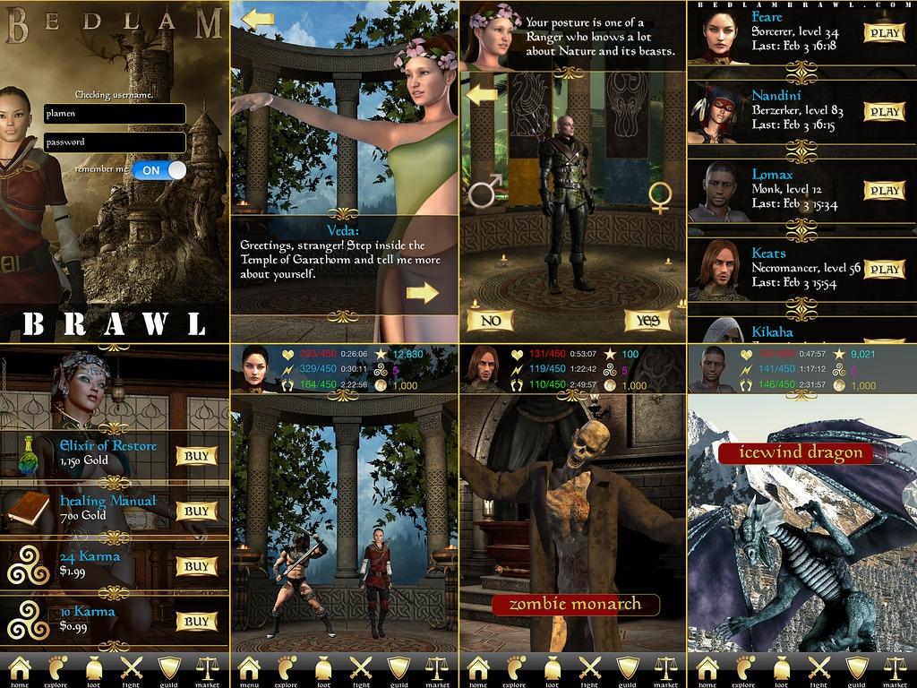 Bedlam Brawl Fantasy MMORPG's video poster