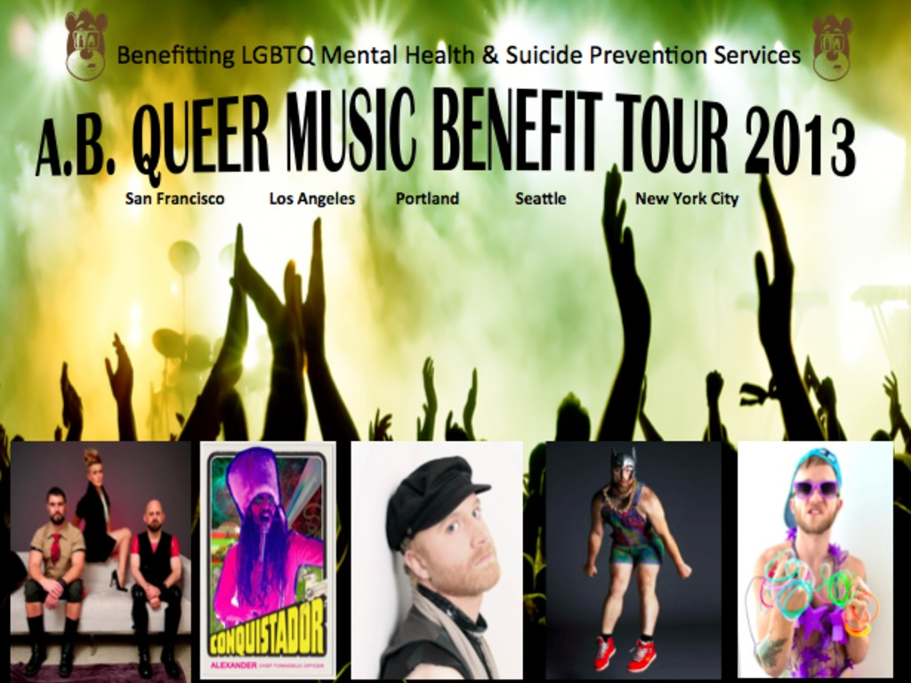 Queer Music Benefit for LGBTQ Mental Health Services's video poster