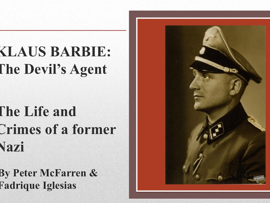 The Devil's Agent: Life and Crimes of the Nazi Klaus Barbie's video poster