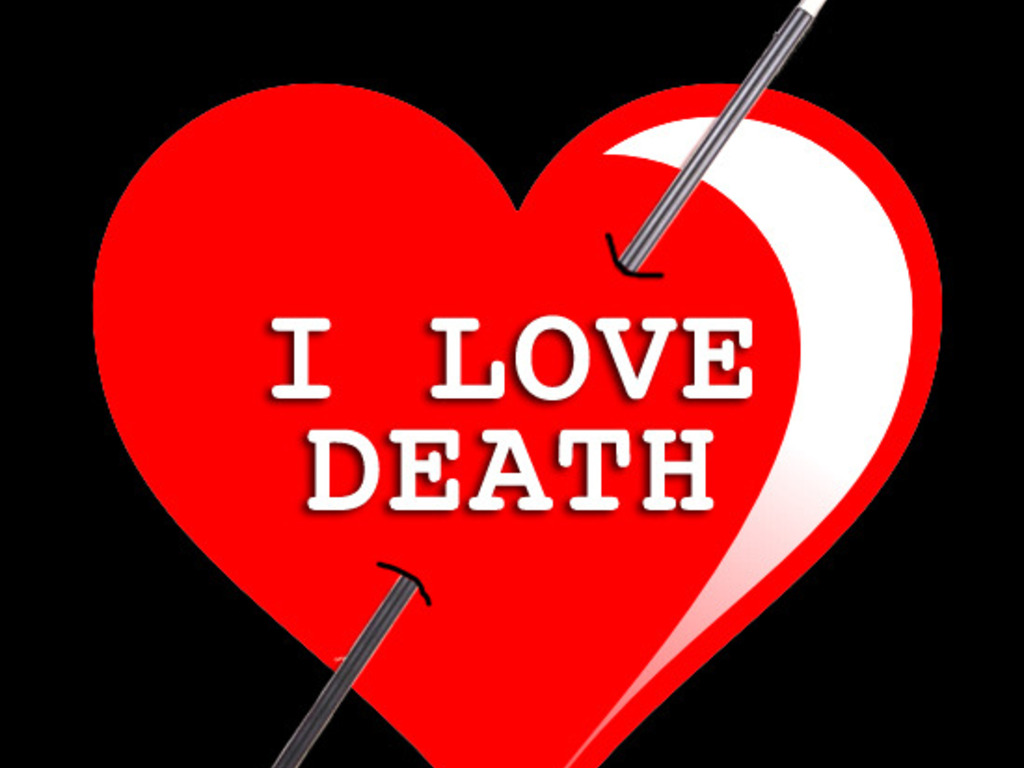 """""""I Love Death"""" - It's a Film, not a Fetish's video poster"""