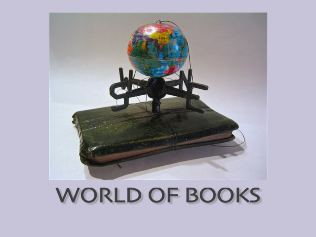 "Limited edition artists book, ""World of Books""'s video poster"