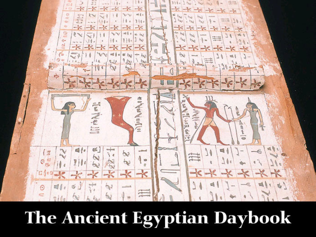 The Ancient Egyptian Daybook's video poster