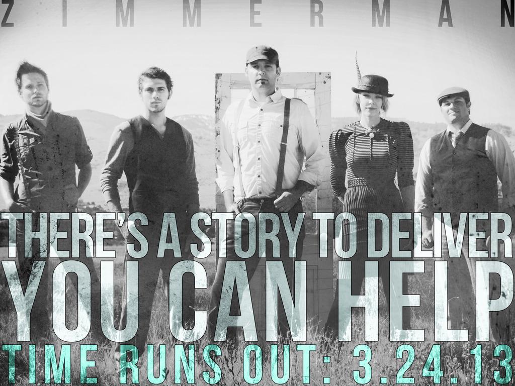 "Zimmerman records the ""Hopefully Broken"" album's video poster"