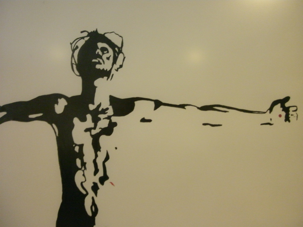 """""""Father, into your hands..."""" a crucifixion serigraph's video poster"""