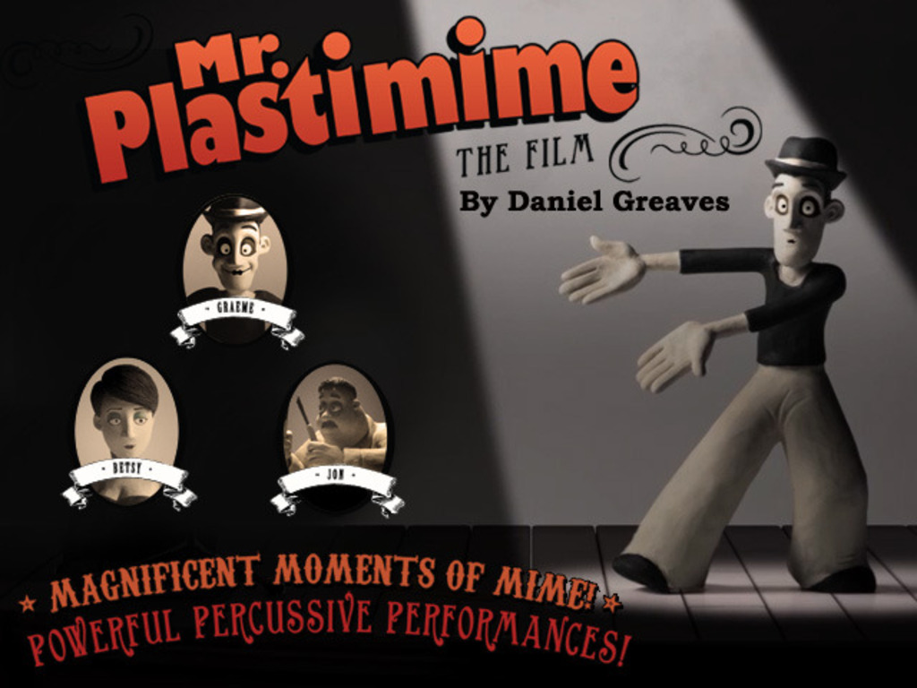 Daniel Greaves' 'Mr. Plastimime' - A Claymation Short Film's video poster