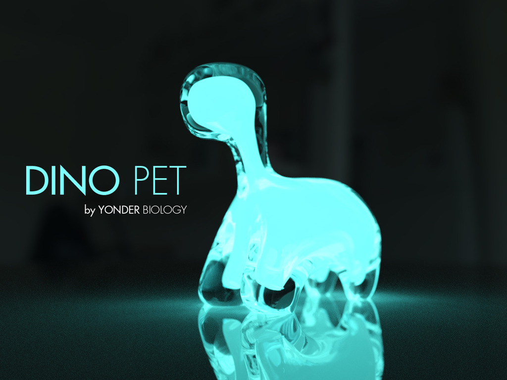 DINO PET // a living, interactive, bioluminescent pet's video poster