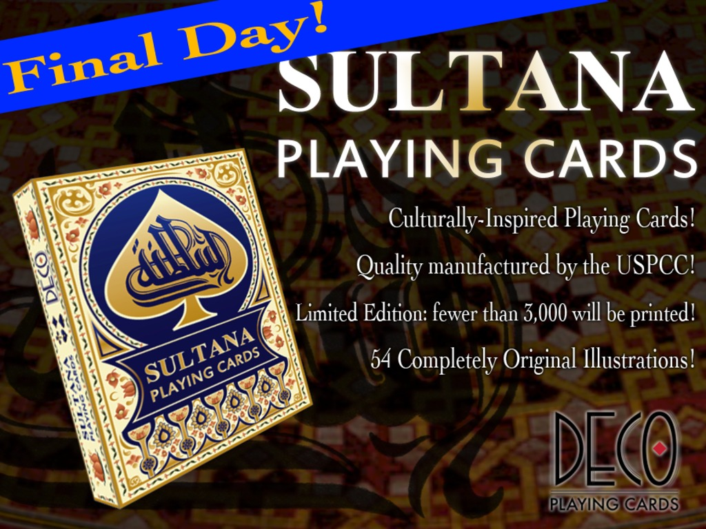 """Sultana"" Playing Cards, inspired by ancient deck! USPCC's video poster"