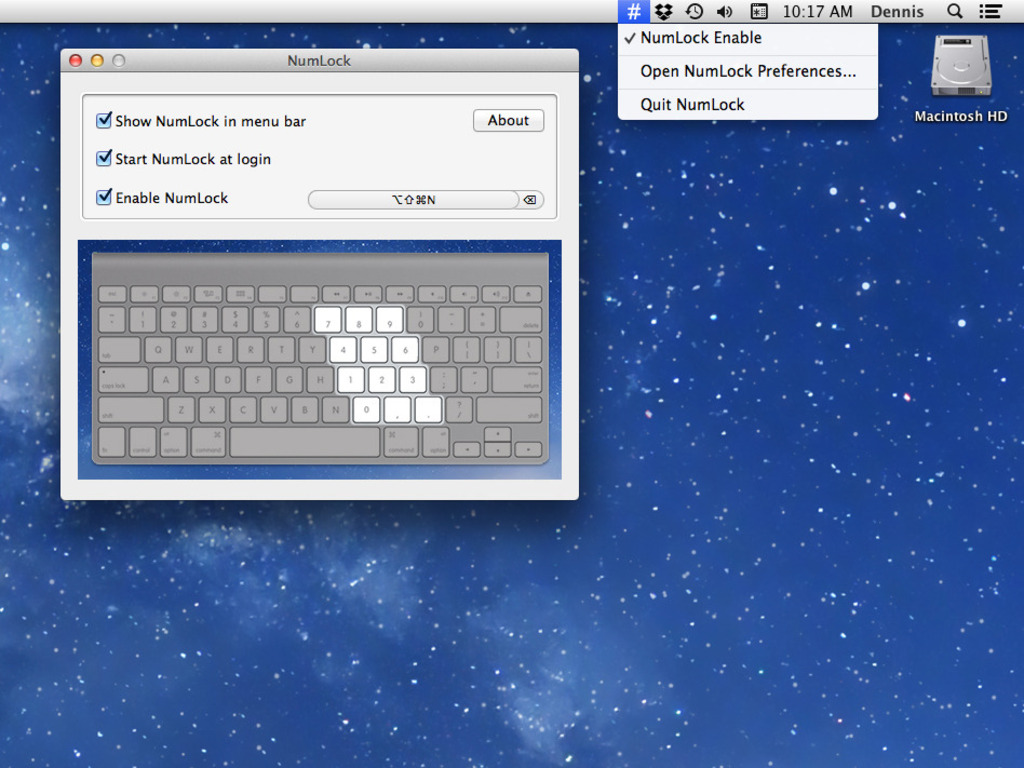 NumLock: OS X App to Enable Number Lock on Mac Keyboards's video poster