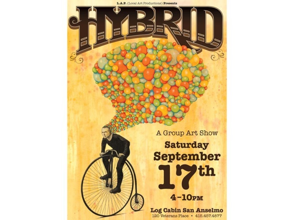 HYBRID a Local Art Productions group Art Show's video poster