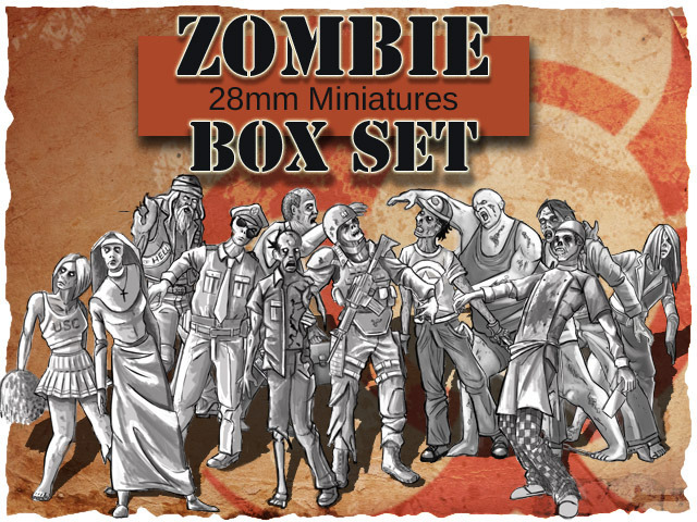 Campagne kickstarter 3dForge Miniatures Zombies