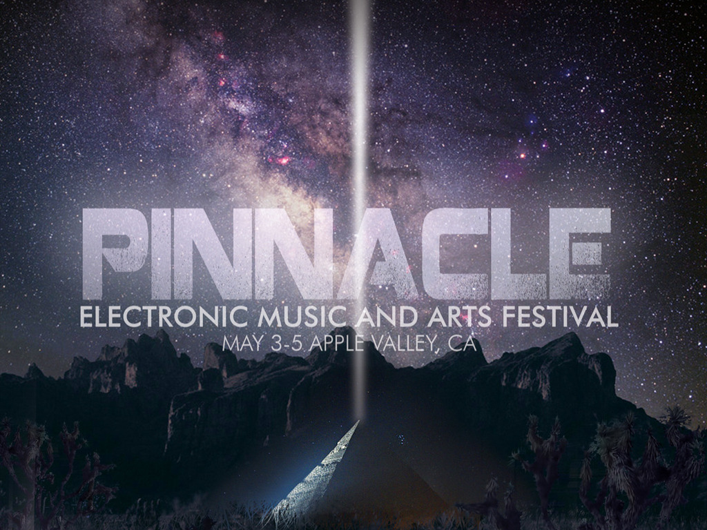 Pinnacle Electronic Music and Arts Festival  May 3-5 , Cali's video poster