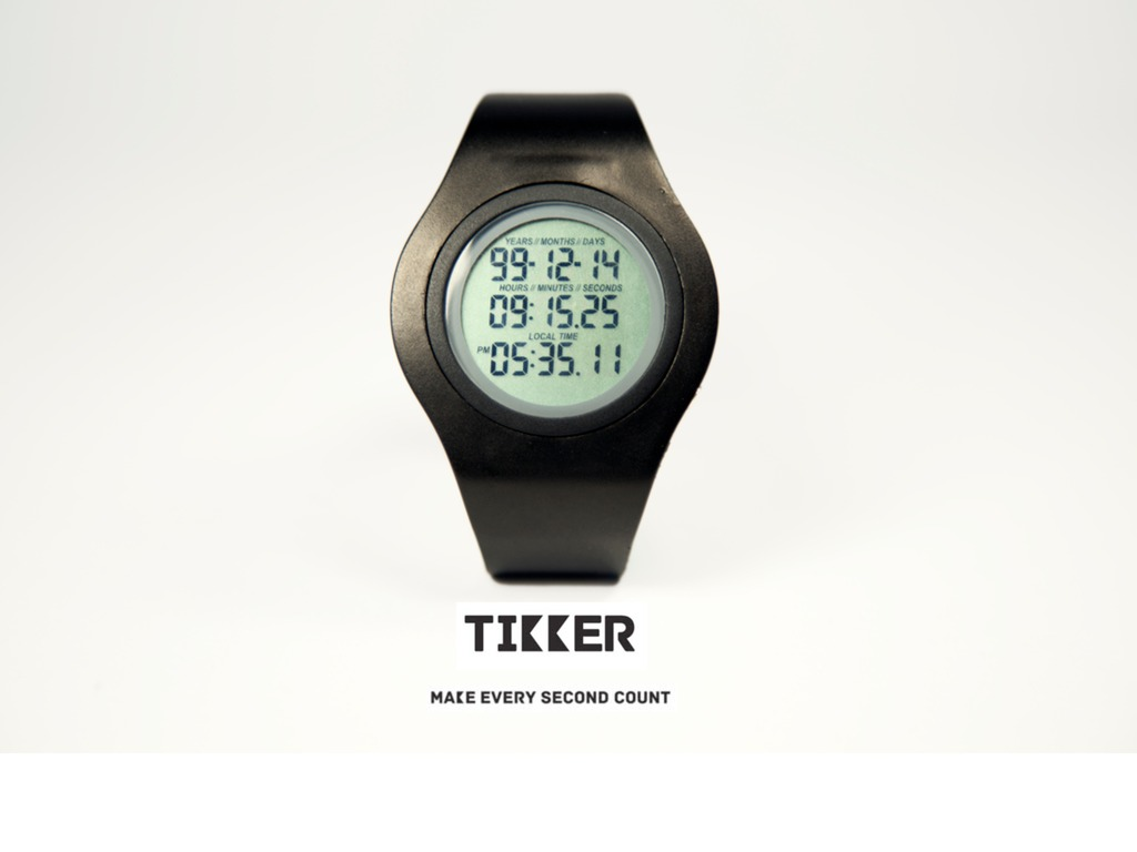 Tikker – The wrist watch that counts down your life!'s video poster