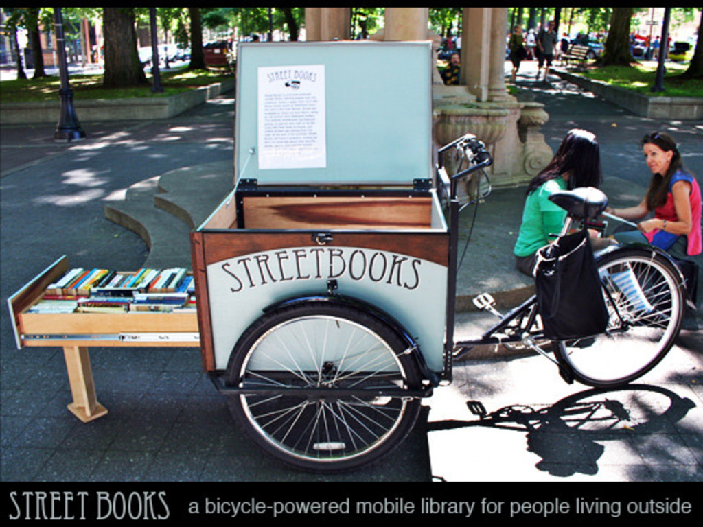 Street Books: A Bicycle-Powered Library for People Outside's video poster