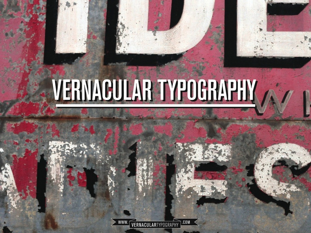 Vernacular Typography's video poster