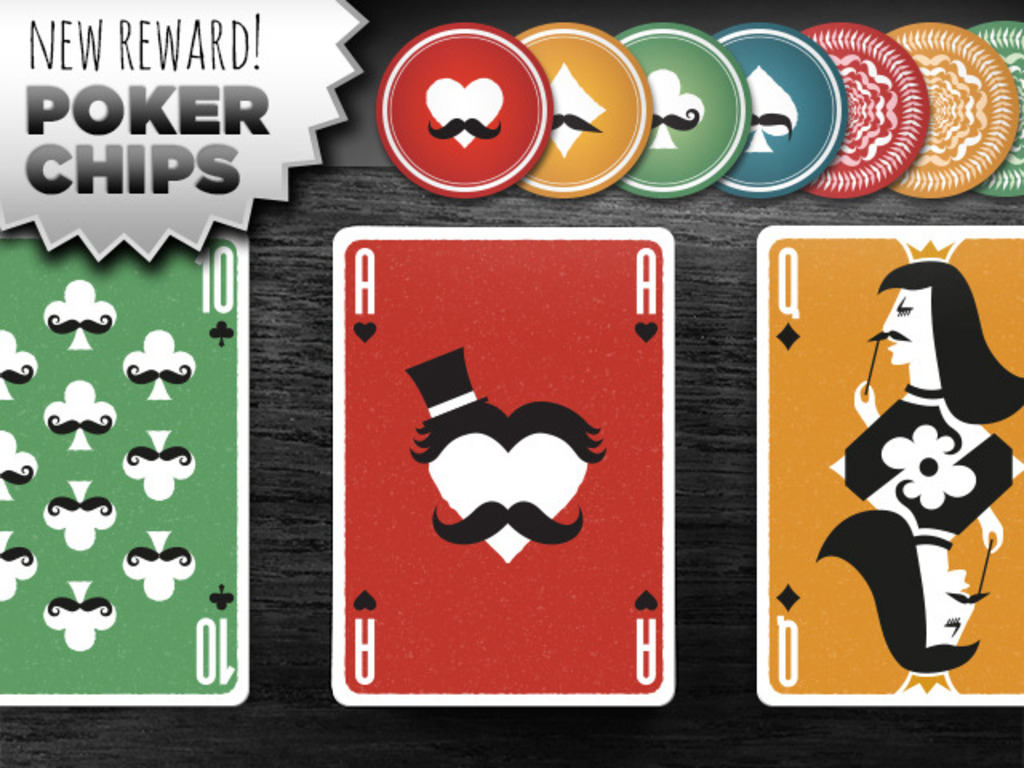 Mustache Playing Cards - a USPC card deck from Vända's video poster