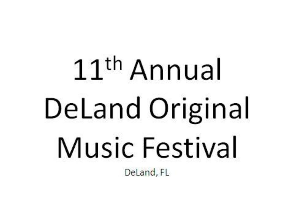 11th Annual DeLand Original Music Festival Marketing Support's video poster