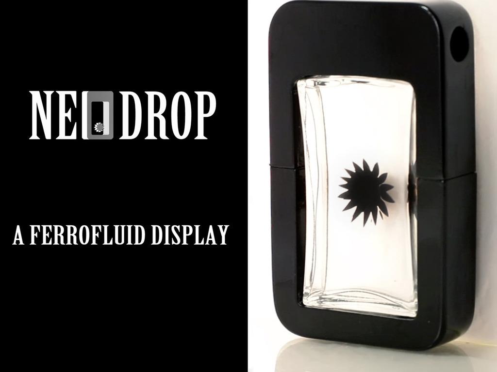 NeoDrop - interactive ferrofluid display's video poster