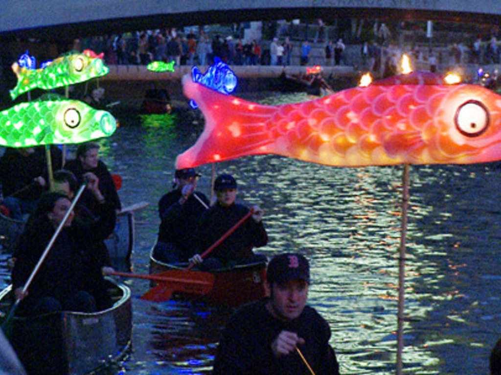 WaterFire Illuminated Fish Sculpture Project's video poster