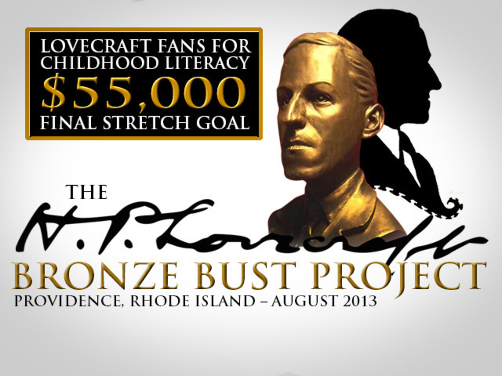 The H.P. Lovecraft Bronze Bust Project's video poster