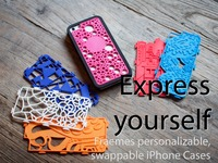 Fraemes: Personalizable, swappable, 3D-printed iPhone cases