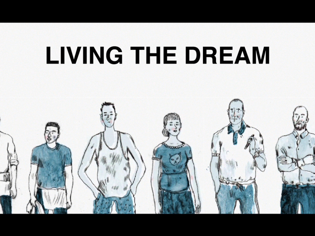 LIVING THE DREAM's video poster