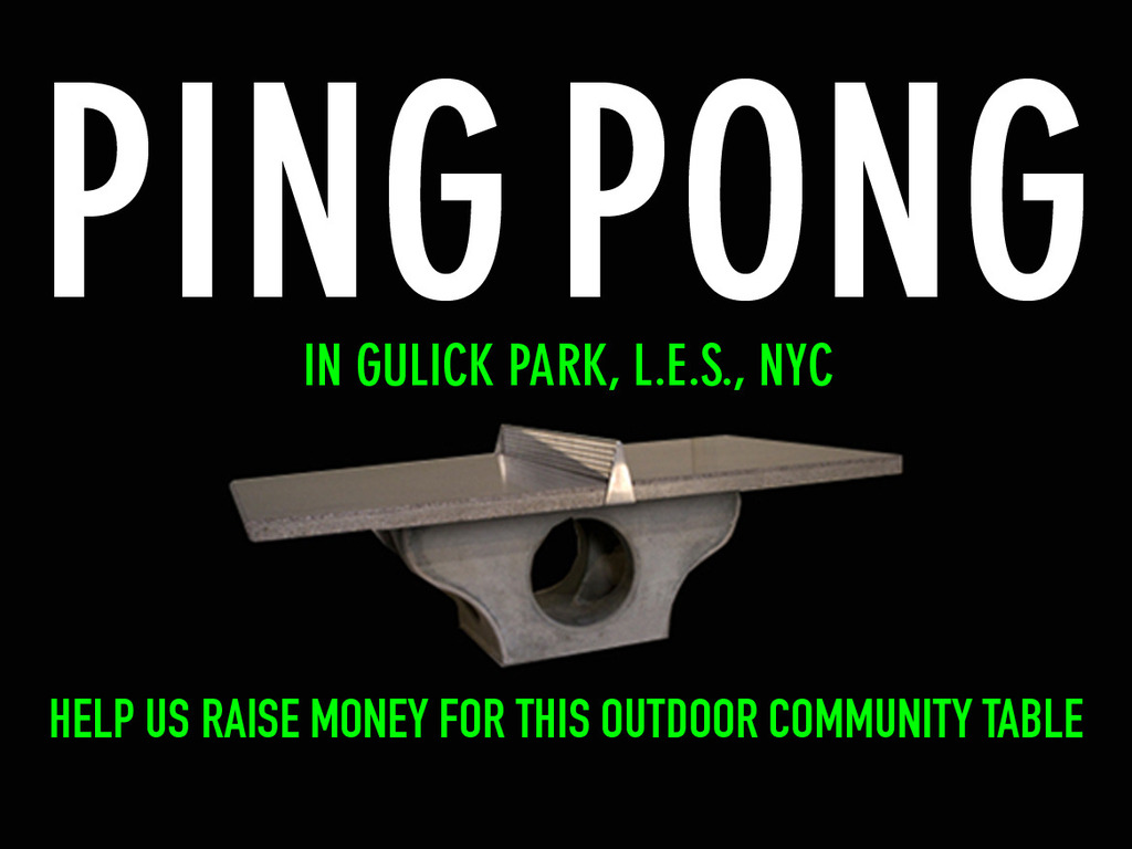 Outdoor Community Ping Pong Table - LES NYC's video poster