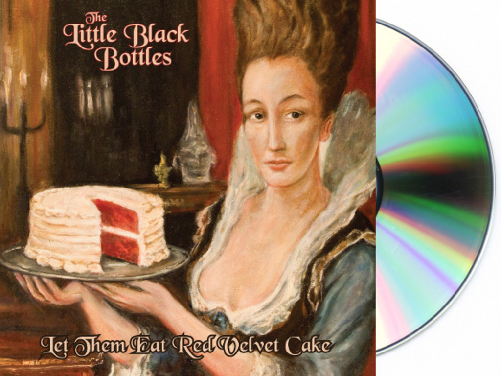 """The Little Black Bottles """"Let Them Eat Red Velvet Cake"""" CD's video poster"""