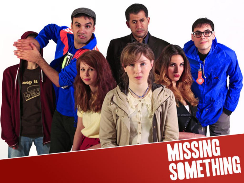 MISSING SOMETHING: a wacky British web-sitcom's video poster