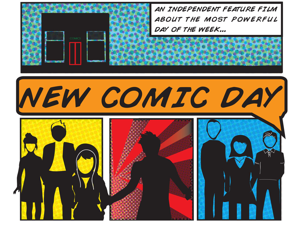 New Comic Day - an independent feature film's video poster
