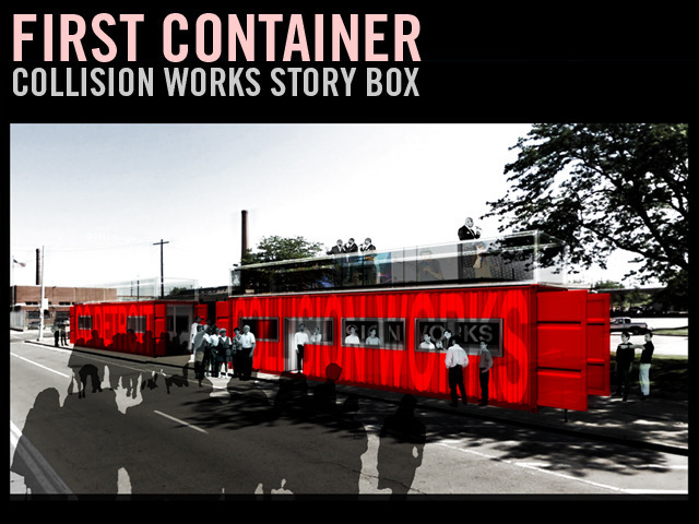 FIRST CONTAINER: Collision Works Story Box Installation
