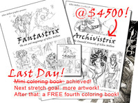 Fantastrix, A Coloring Book For (So-Called) Grown-ups