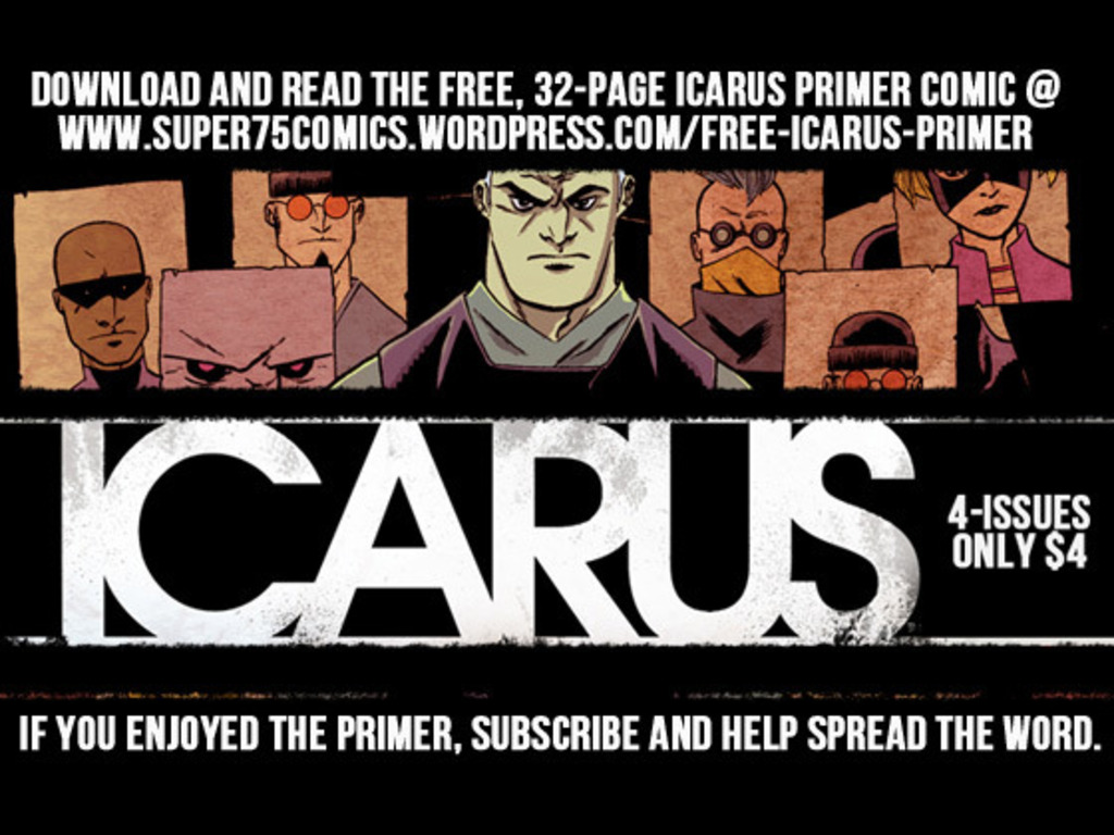 ICARUS, a 4-issue miniseries by Ryan Cody for only $4's video poster
