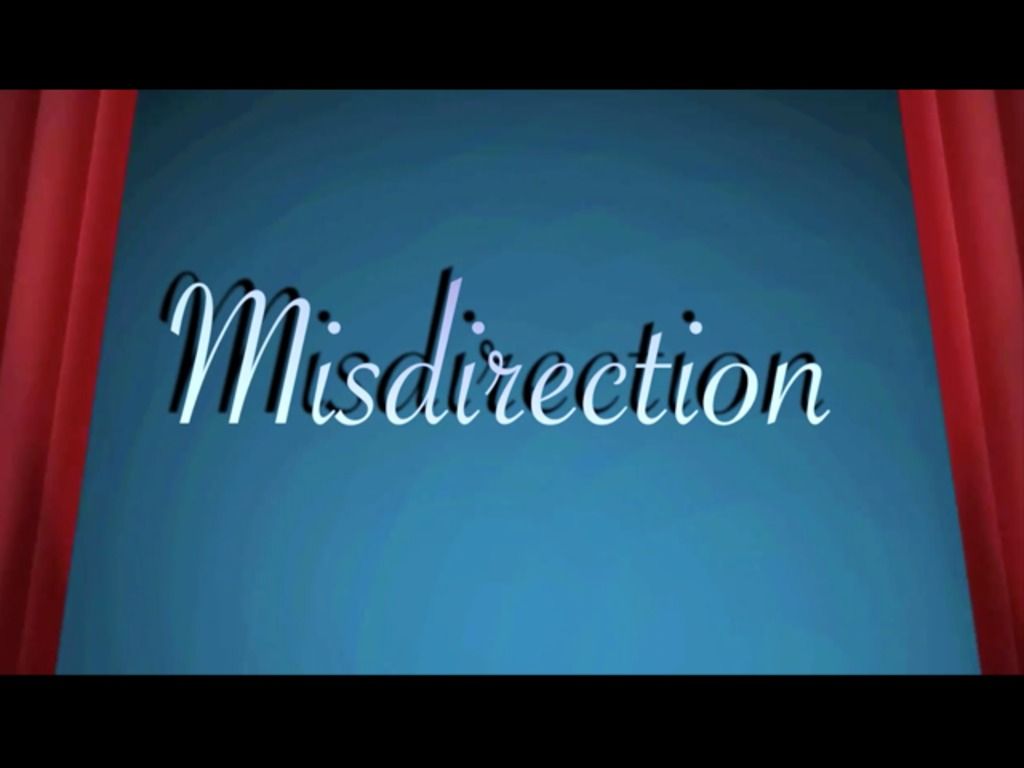 Misdirection's video poster