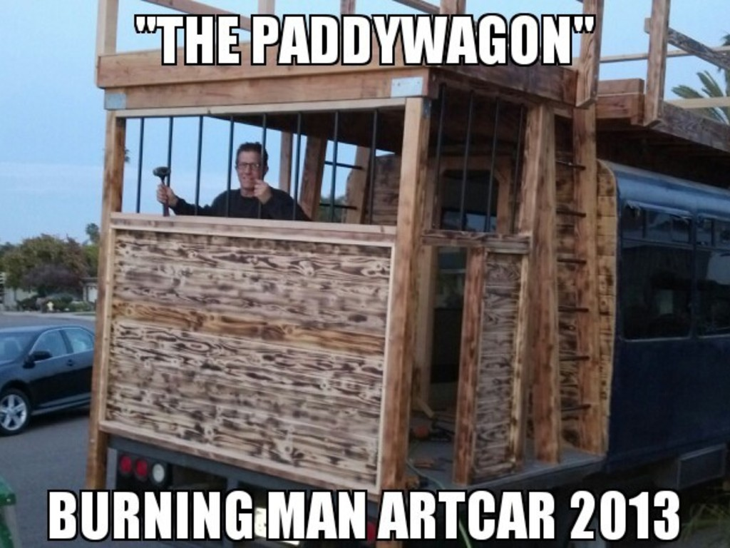 """The PaddyWagon"" Art Car for Burning Man 2013 by THE BRCFPD's video poster"