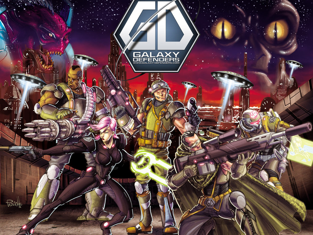 Galaxy Defenders - Co-op Sci-Fi Miniature Board Game's video poster