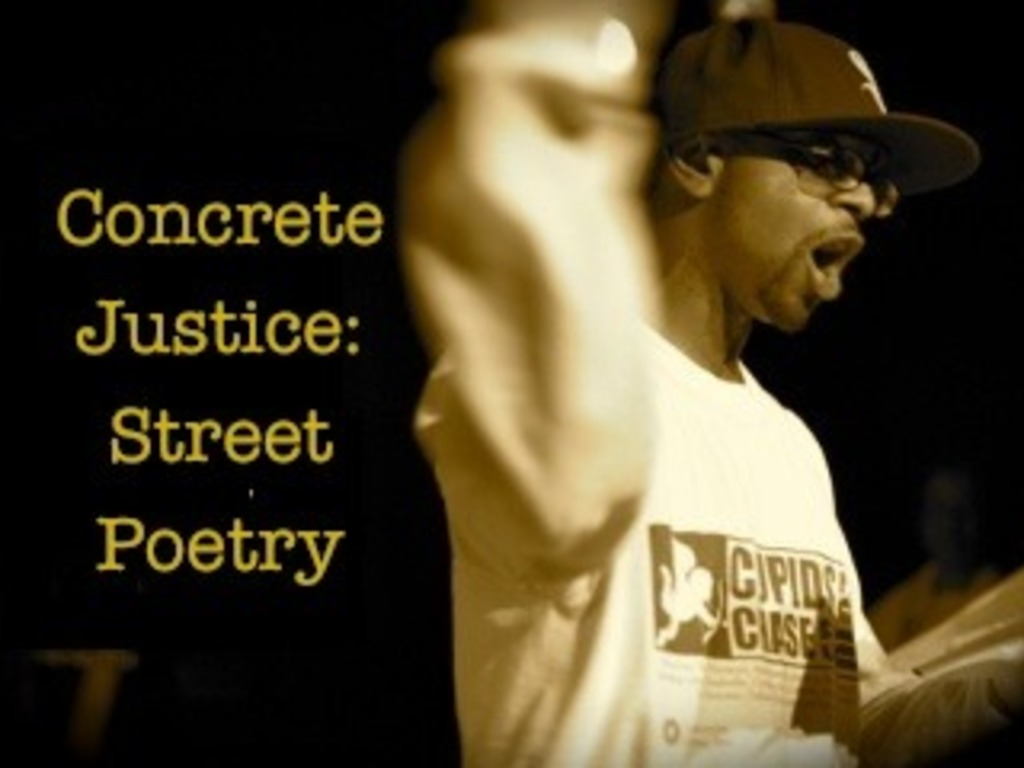 Concrete Justice: Street Poetry's video poster