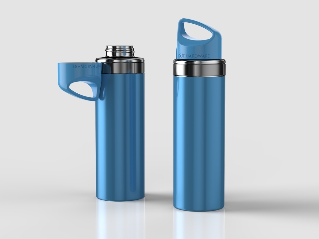Magnetic Top Water Bottle:  Never Lose Your Lid!'s video poster
