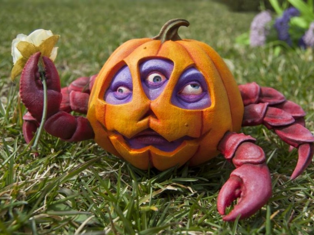 Jim McKenzie's Pumpkin Crab Resin Art Figurine's video poster