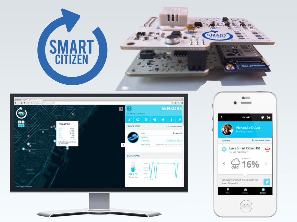 The Smart Citizen Kit: Crowdsourced Environmental Monitoring's video poster
