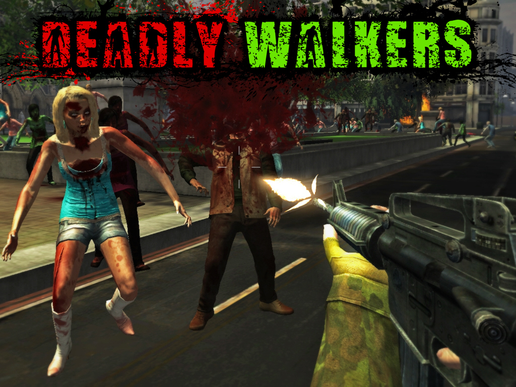 DEADLY WALKERS: Fight the Zombies of the Old Movies's video poster