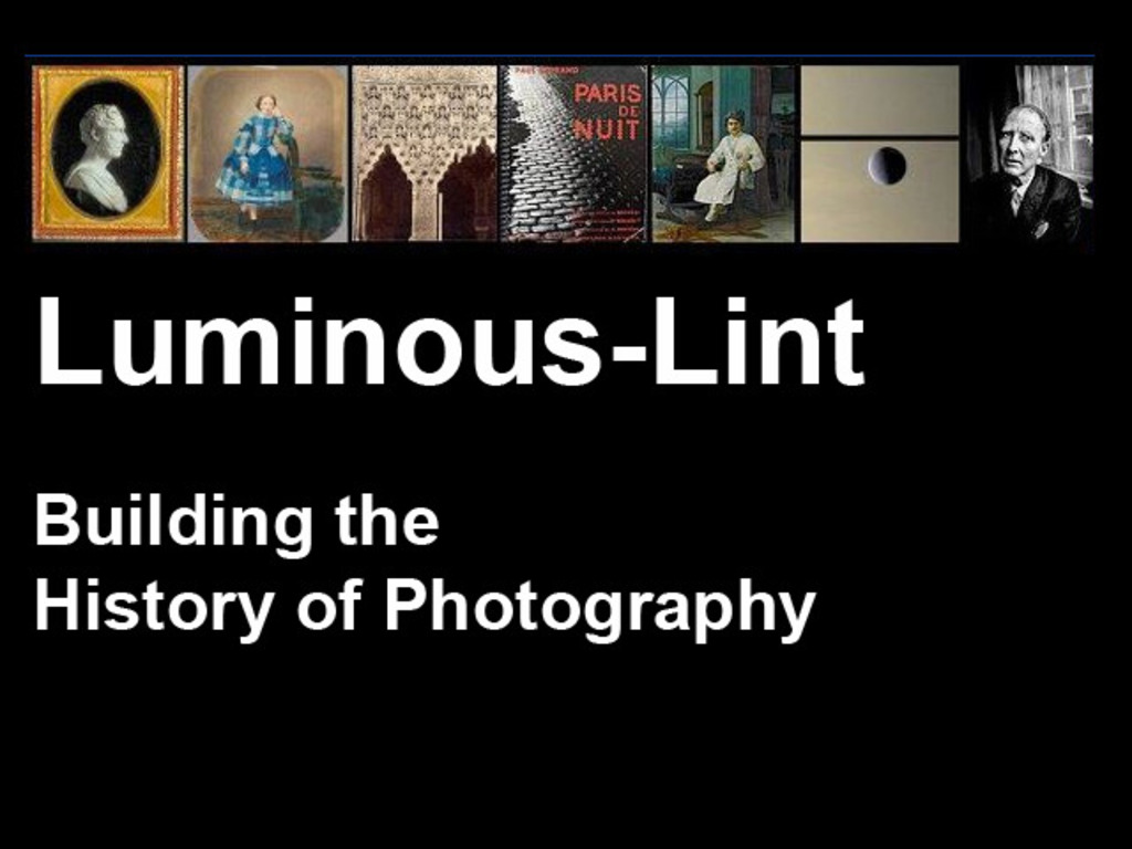 Luminous-Lint - Join in Building the History of Photography!'s video poster